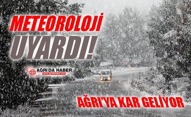 Meteoroloji Uyardı! Doğu Anadolu'ya Kar Geliyor!