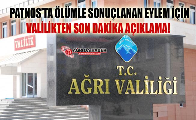 Patnos'taki gösteride hayatını kaybeden Ahmet Çelik için Valilikten açıklama