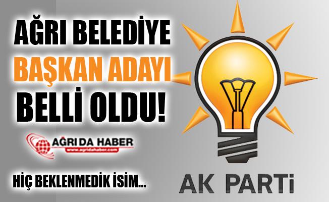 2019 Yerel Seçimler AK Parti Ağrı Belediye Başkan Adayı Belli Oldu!