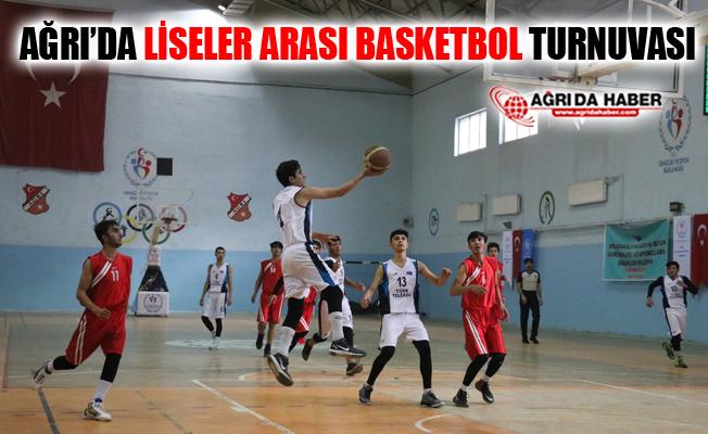 Ağrı'da Liseler Arası Basketbol Turnuvası Düzenlendi