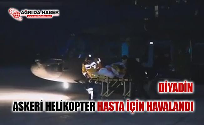 Ağrı diyadin'de Askeri Helikopter ile Hasta kurtarma Video!