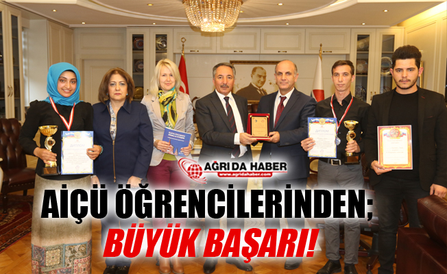Ağrı İbrahim Çeçen Üniversitesi Öğrencilerinden Büyük Başarı