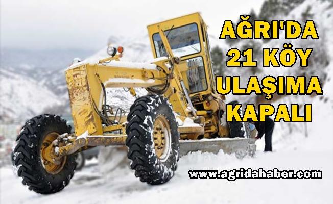 Ağrı köylerinde Yoğun kar yağışı 21 Köye ulaşım yok!