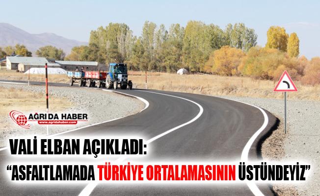 "Ağrı Valisi Süleyman Elban: ""Asfaltlamada Türkiye Ortalamasının Üstündeyiz"""