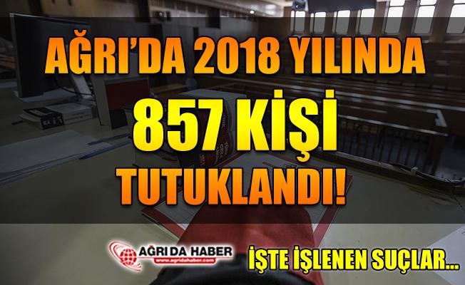 Ağrı'da 2018 Yılında 857 Kişi Tutuklandı