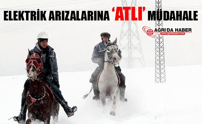 Ağrı'da Elektrik Arızalarına Atlarla Gidiyorlar!