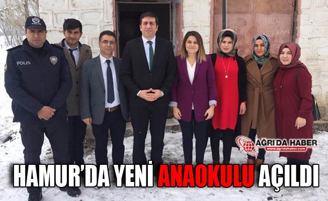 Ağrı Hamur'da Yeni Anaokulu Açıldı