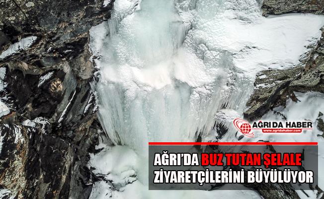 Ağrı Taşlıçay'da Buz Tutan Şelale'den Görsel Şölen