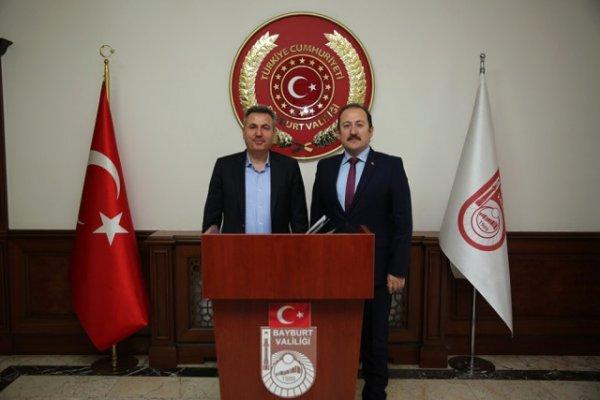 Ağrı Valisi Süleyman Elban Vali Pehlivan'ı Ziyaret Etti