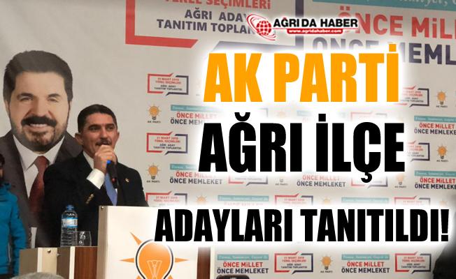 AK Parti Ağrı İlçe Adaylarını Tanıttı
