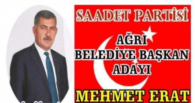 Mehmet ERAT Saadet Partisi Ağrı Belediye Başkan Adayı oldu!