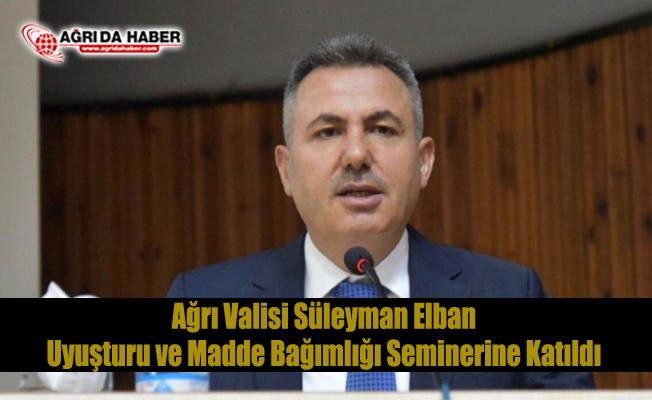 Süleyman Elban Uyuşturucu ile Mücadele Seminerinde