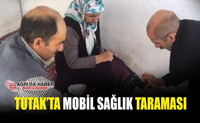 Tutak İlçe Sağlık Müdürlüğü ekipleri mobil sağlık taraması yaptı