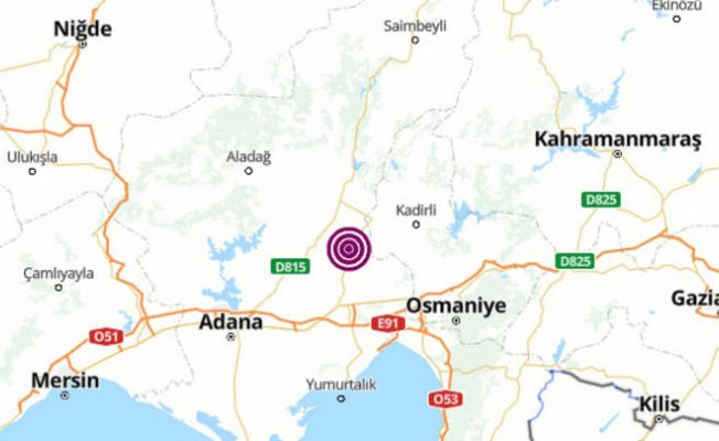 Adana'da Deprem! 4.3 Büyüklüğünde Meydana Geldi