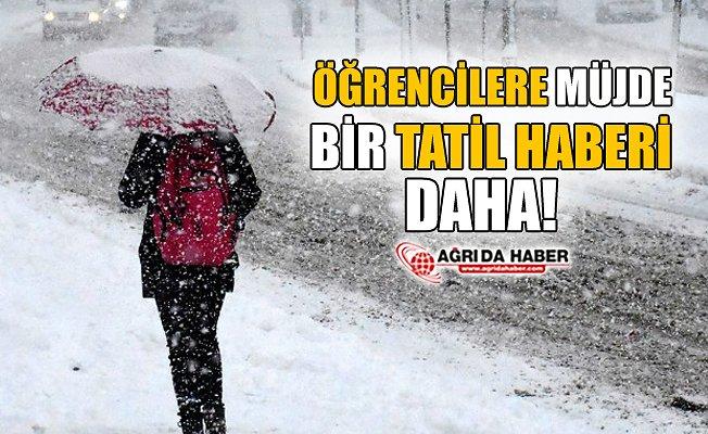 Ağrı'da Kar Yağışı Nedeniyle Eğitime 1 Gün Daha  Ara Verildi..
