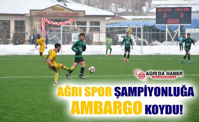 Ağrı 1970 Spor Erciş Gençlik Belediyespor'u 3-0 Mağlup Etti
