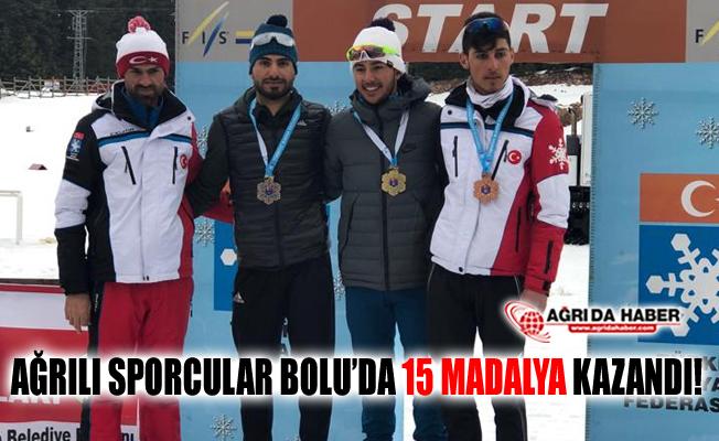 Ağrılı Sporcular Bolu'da yapılan Kayaklı Koşu'da 15 Madalya Kazandı!
