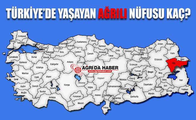 Türkiye'de Yaşayan Ağrılıların Nüfusu Kaç?