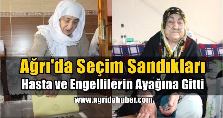 Ağrı'da Seçim Sandıkları, Hasta ve Yaşlıların Ayağına Gitti