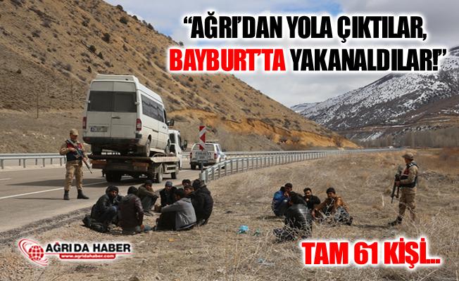 Ağrı'dan Trabzon'a Götürülen 61 Düzensiz Göçmen Bayburt'ta Yakalandı