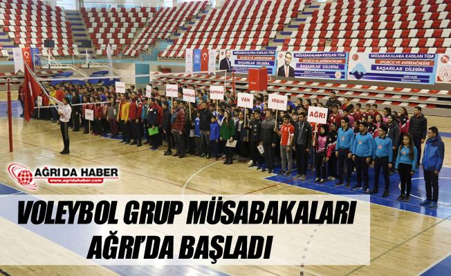 Ağrı'da 'Okul Sporları Voleybol Grup Müsabakaları' Başladı