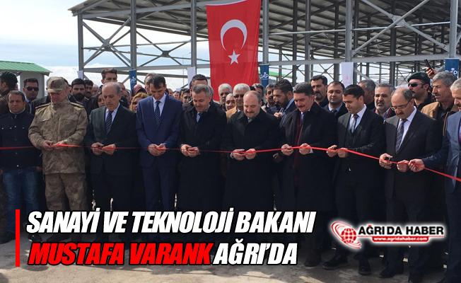 Sanayi ve Teknoloji Bakanı Mustafa Varank Ağrı'ya Geldi