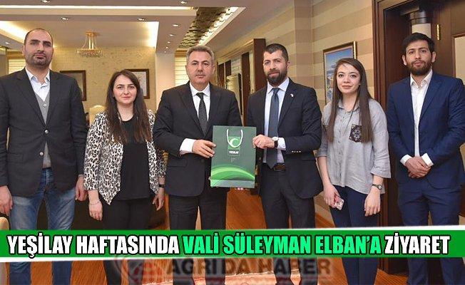 Yeşilay Haftasında Vali Süleyman ELBAN'a Ziyaret!
