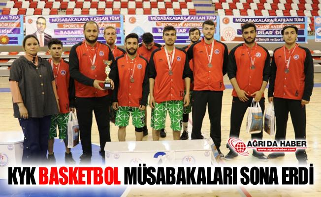 Ağrı'da Düzenlenen KYK Basketbol Turnuvası Sona Erdi