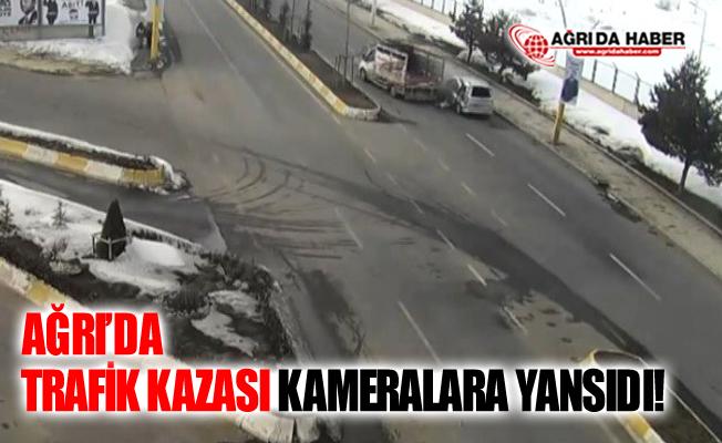 Ağrı'da Trafik Kazası Mobese Kamerasına Yansıdı