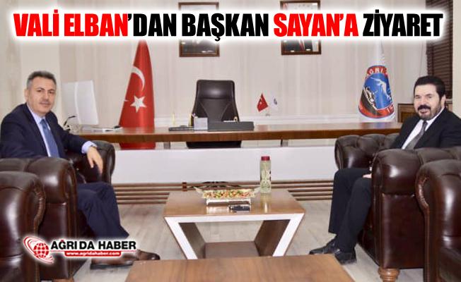 Ağrı Valisi Süleyman Elban'dan Başkan Savcı Sayan'a Ziyaret