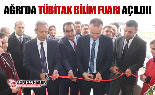 """Ağrı'da """"TÜBİTAK 4006 Bilim Fuarı"""" Sergisi açıldı"""