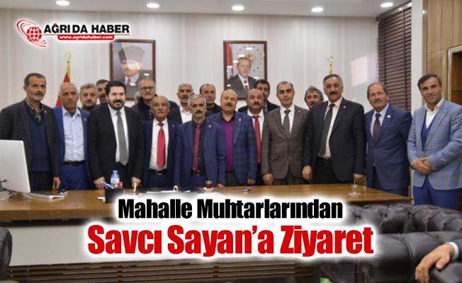 Mahalle Muhtarlarından Başkan Savcı Sayan'a Ziyaret