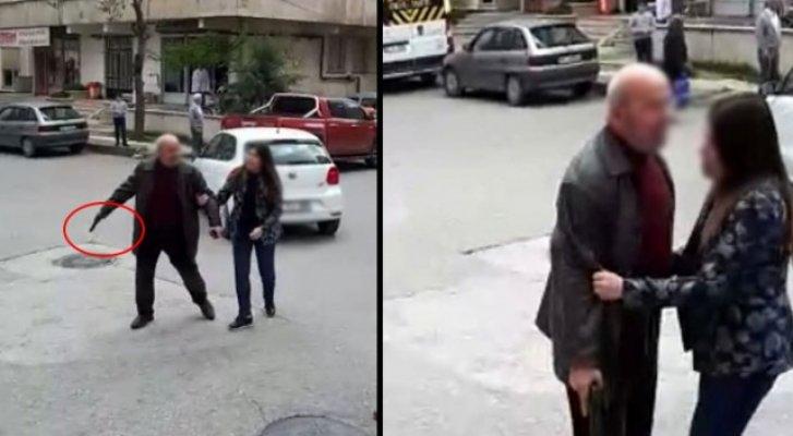 Silah Çeken Adamı Kızı İkna Etti!