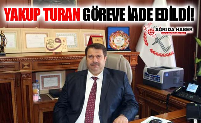 Yakup Turan Milli Eğitim Müdürlüğü Görevine İade Edildi