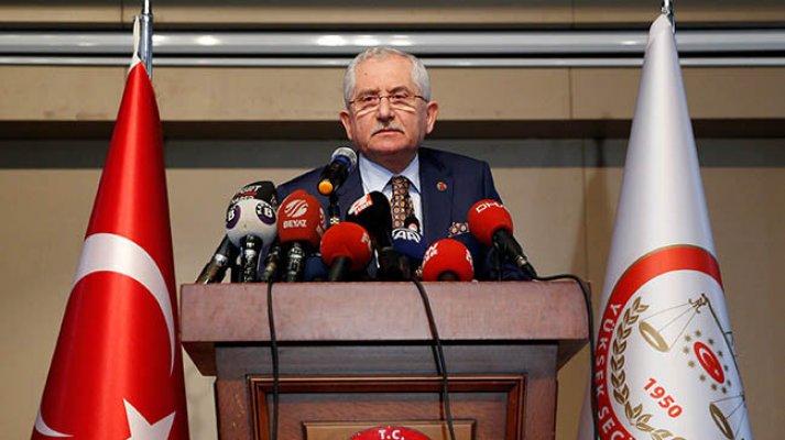 YSK Başkanı Sadi Güven'den Mazbata ve İtiraz Açıklaması
