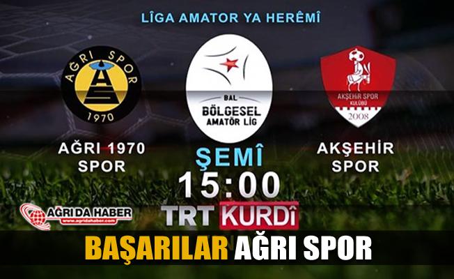 Ağrı 1970 Spor ile Akşehir Spor Maçı TRT Kurdi'de