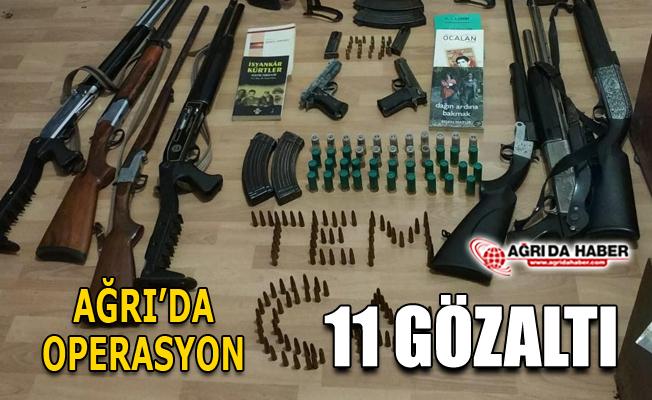Ağrı'da PKK/KCK Terör Operasyonu: 11 Gözaltı