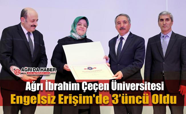 Ağrı İbrahim Çeçen Üniversitesi Engelsiz Erişim'de 3'üncü Sırada