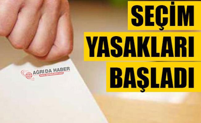 23 Haziran Seçimleri için Seçim Yasağı başladı