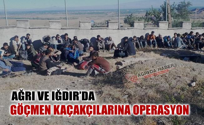 Ağrı ve Iğdır'da Göçmen Kaçakçılarına darbe! 10 Gözaltı