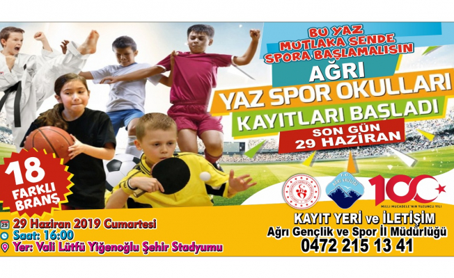 Ağrı'da Yaz Spor Okulları Başlıyor