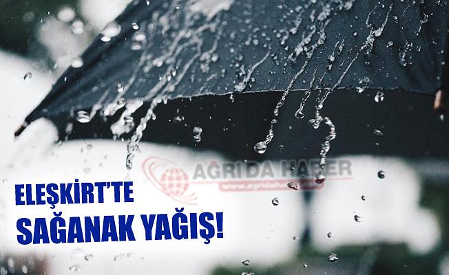 Eleşkirt'te Sağanak Yağış Hayatı olumsuz Etkiledi!