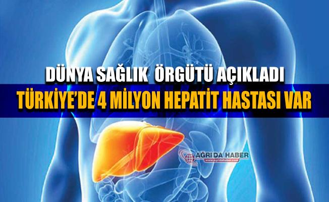 Türkiye'de 4 Milyon kişi Hepatit Hastası olduğundan Habersiz!
