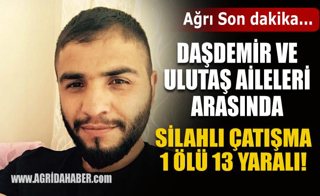 Ağrı'da Daşdemir ve Ulutaş Aileleri arası Silahlı Kavga: 1 ölü 13 yaralı