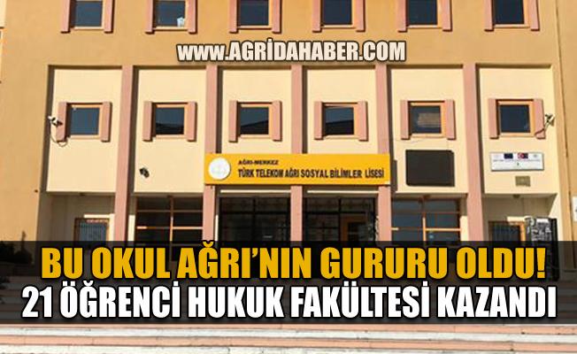 Ağrı Türk Telekom Sosyal Bilimler Lisesi büyük başarı: 21 öğrenci Hukuk Fakültesinde