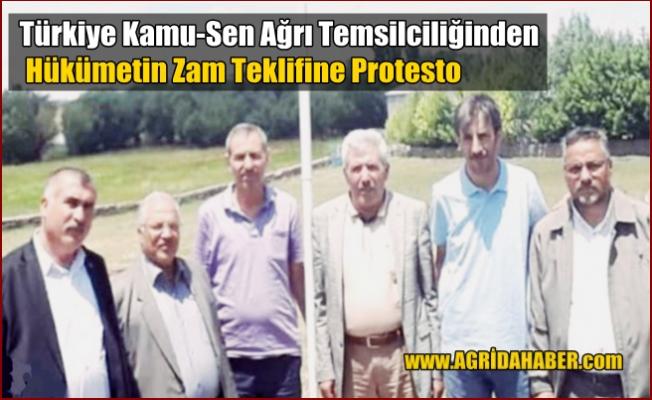 Türkiye Kamu-Sen Ağrı İl Temsilciliğinden Hükümetin Zam Teklifine Protesto