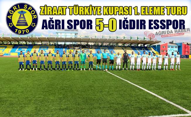 Ziraat Türkiye Kupası 1. Eleme Turu Ağrıspor 5-0 Iğdır Esspor