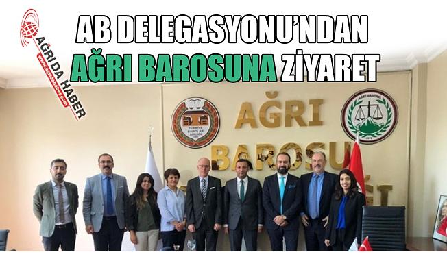 AB Delegasyonu'ndan Ağrı Barosuna Ziyaret!