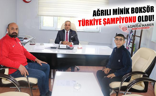Ağrılı Minik Boksör Türkiye Şampiyonu Oldu!