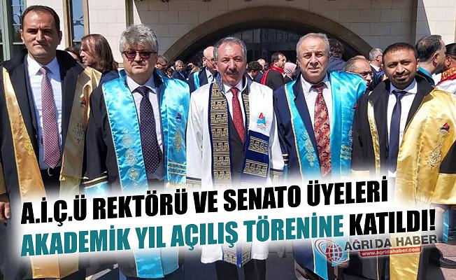 A.İ.Ç.Ü Rektörü ve Senato Üyeleri Akademik Yıl Açılışına Katıldı!
